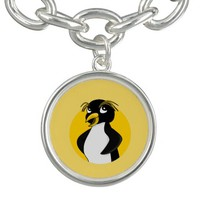 Rockhopper penguin cartoon charm bracelet