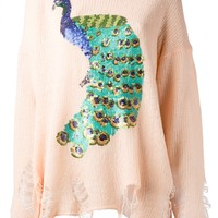 Wildfox Sequined Peacock Sweater