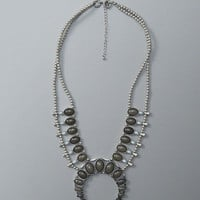 Womens Squash Blossom Statement Necklace | Womens Accessories | Abercrombie.com