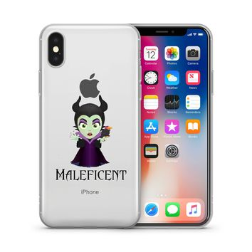 Disney's Villains (Maleficent) Jelly Clear Case For Apple Iphone X (10)