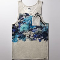 On The Byas - Star Wars Millennium Falcon Floral Tank Top - Mens Tee - Natural
