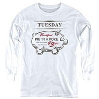 Supernatural Kids Long Sleeve Pig in a Poke White