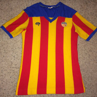 Sale!! Vintage 1970s 1980s VALENCIA CF Soccer Jersey Rare Spain Football Shirt - Hard to Find - Collector must have