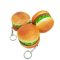 Slow Rebound Squishy Artificial Hamburger Simulation Bread Pu Cake Model Toys Bakery Room Home Decoration Craft Toys