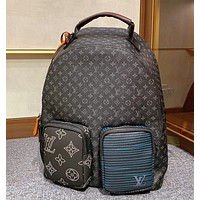 LV (Louis Vuitton) autumn and winter new backpack patchwork collage creative outdoor bag