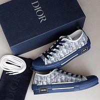 Dior CD hot new style mesh lace-up sneakers Low-top flat sports hip-hop sneakers Dior letter high-top shoes Men's and women's versatile casual shoes boys and girls