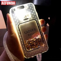 Luxury Bling Stars Dynamic Liquid Quicksand Clear Phone Case For iPhone X 7 8 6 6S Plus 5 5S SE Cover Led Flash Light Up Coque