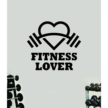 Fitness Lover Wall Decal Home Decor Bedroom Room Vinyl Sticker Art Teen Work Out Quote Gym Fitness Girls Lift Strong Inspirational Motivational Health