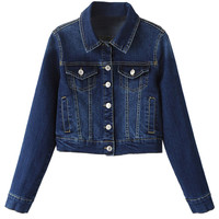 Blue Lapel Denim Jacket