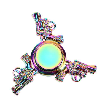 Rainbow Fidget Spinner- Stick 'Em Up