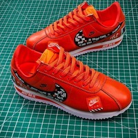 Just do it Nike Classic Cortez SE OG XLV Orange Sport Running Shoes - Sale