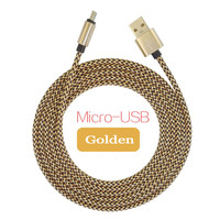 1M Alloy Metal Braided USB Data Sync Charger Cable Cord Wire for iPhone 6 6s Plus 5s iPadmini Samsung Sony Xiaomi HTC