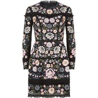 Needle & Thread Floral Embroidered Dress Black   Harrods