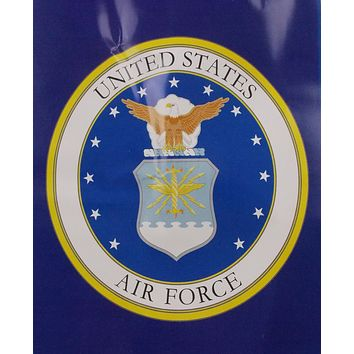"""US Air Force Queen Blanket Plush Luxury Faux Fur 79""""x96"""" Medium Weight Polyester"""