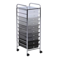 Honey Can Do Rolling Storage Cart with 10 Shaded Drawers, Multicolor - Walmart.com