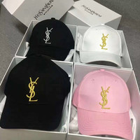 Saint Laurent Paris YSL Women Men Sport Sunhat Embroidery Baseball Cap Hat
