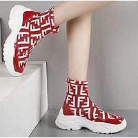 Fendi Woman Men Boots Fashion Breathable Sneakers Running Shoes-1