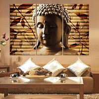 3 Pieces Creative Buddha Pattern Canvas Painting