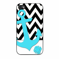 Chevron Anchor Personalized iPhone 4s Case