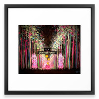 Society6 Electric Forest Framed Print