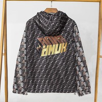 FENDI fashion sells sun windbreaker for men and women with data printing