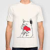 Frenchie Heart T-shirt by Huebucket