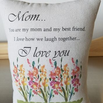 Pillow for mom mother special occasion gifts cotton cushion