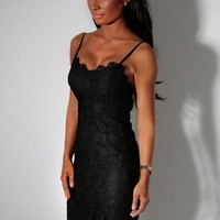 Intimacy Black Lace Sweetheart Midi Dress | Pink Boutique