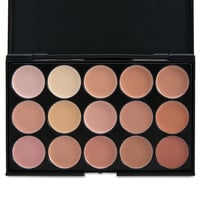 15 Color Pro Concealer Face Primer Cream Contour Palette Make Up Facial Contouring Palette Makeup Corrector Base Palette