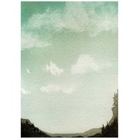 Watercolor Landscape, Watercolor Painting, Scenic Landscape, Watercolor Print, Landscape Painting, Forest Painting, Nature Painting, Green