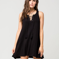 SOCIALITE Lace Up Swing Dress | Short Dresses