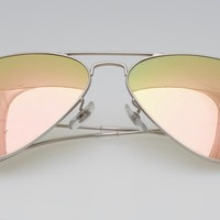 New RayBan Aviator Sunglasses with flash rose gold color Mirror 58mm r3025