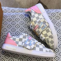 '' Louis Vuitton '' Women Fashion Frontrow Sneaker