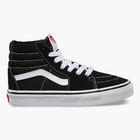 Vans Sk8-Hi Kids Shoes Black/White  In Sizes