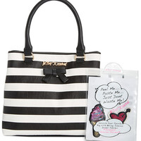 Betsey Johnson Satchel with Patches | macys.com