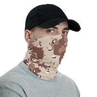 Desert Camouflage Pattern (six-color) Neck Gaiter