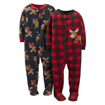 Just One You™ Made by Carter's® Infant/Toddler Boys' Moose Footed Sleeper Set