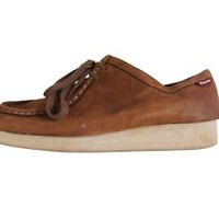 Clarks Originals Wallabee Brown Leather Lace Up Oxford Size 8