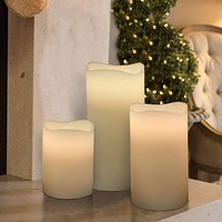 Trendy 3pc Led Candle-12 Changeable Colors By Benzara