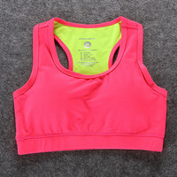 Womens Running Fitness Workout Yoga Bra Vest Profession Sports Bras Tank Top -04