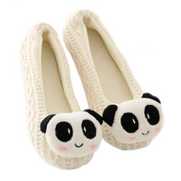White Knitted Yoga Shoes