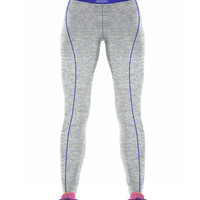 Silver Color Verticle Blue Line On Good Extension Workout Leggings