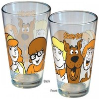 Scooby Doo - Merchandise - Pint Glass (The Gang - Scooby, Shaggy, Fred, Daphne & Velma)