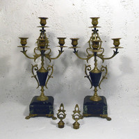 French antique art nouveau candelabras. romantic French, chateau chic. French maison chic. elegant candelabras
