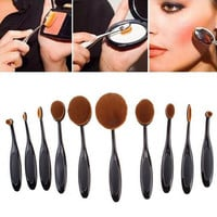 Top Seller MultiPurpose Nylon Makeup Brush Gift Set (10pcs) Cosmetic Beauty Blusher Eyeshade Foundation Brushes Tools IB13-01 Free Shipping