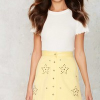 Vintage Start Talking Studded Skirt