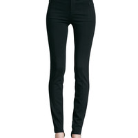 Fitted Slim Twill Pants, Size: