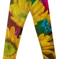 Spring Daisies 2 Fancy Leggings created by Blooming Vine Design | Print All Over Me