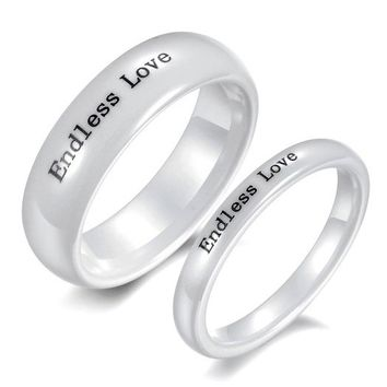 Ceramic Wedding Rings for Men and Women Set of 2 - Couple Wedding Rings - Couple Jewelry for 2 Personalized Couples Gifts | His Her Necklaces and Bracelets | Engraved Wedding Rings | Couples Clothing