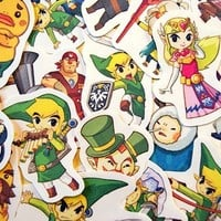 The Legend of Zelda sticker pack (pack 1: Phantom Hourglass and Spirit Tracks) from Stickerama